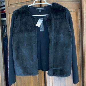 NWT Banana Republic Fur Cardigan